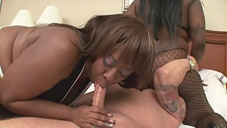Fat Whores Are Enjoying in Interracial Threesome