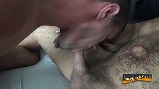 Hairy-bear gets ass creampied