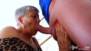 Horny Granny Savana Sucked Marc Kaye's Big Cock