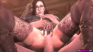 Stunning 3D Babes Share Dick in Mouth and Tight Pussy