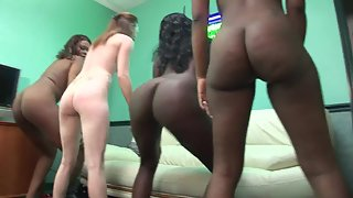 Round Ass Ladies Dance in Undress Figures in Back Room