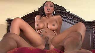 Big Boobs Ebony Slammed Doggy Style by Stiff Dick in Doggy Style