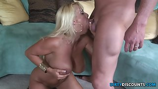 Hardfucked milf beauty gets facialized