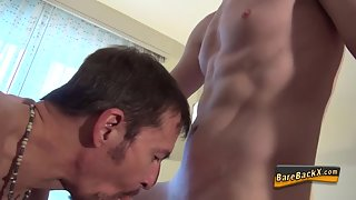 Raw plowed dude spunk dumped