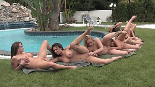 Group of Horny Babes Enjoy a Fabulous Lesbian Orgy