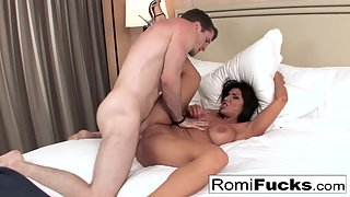 Brunette Babe Romi Rain Gets Amazing Fuck by Big Cock