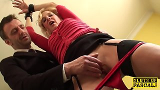 Tiedup british sub fingerfucked before throated