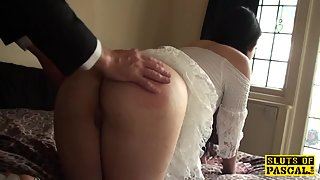brit bdsm sub whipped and spanked
