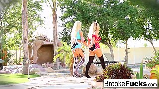 Skinny Ladies Brooke Brand and Olivia Fingered Their Twats