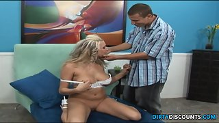 Knockers clit pierced cutie pumping with penis