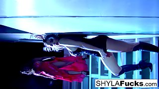 Nikka obeys Shyla's commands in this erotic girl on girl sex
