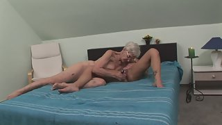 Two Lesbian Grannies Are Having Sex