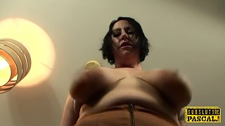 Experienced Britt analy destryoed by rough maledom