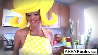 Surreal Kitchen dress up with Abigail Mac and her giant cucumber