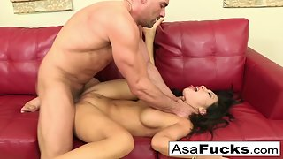 Round Boobs Ladie Asa Akira Banged Hard by Muscular Dude