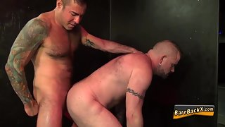 Bareback Dudes Seducing and Satisfying Each Other by Sex